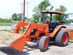 Equipment - Tractor with Wood Chip Mulch